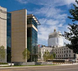 Vetter stone minnesota senete building exterior stone facade side view