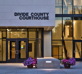 Wells Concrete Divide County Courthouse Glass Entrance Design