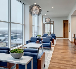 Woodwright Hardwood Floor Company NTT Data Office Common Room Design