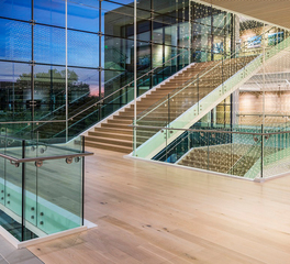 Woodwright Hardwood Floor Company Turtle Creek Office Space Design Stairway