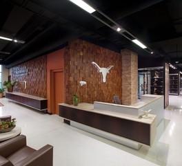 Woodwright Hardwood Floor Company University of Texas Darrell K Royal Stadium Reception Design