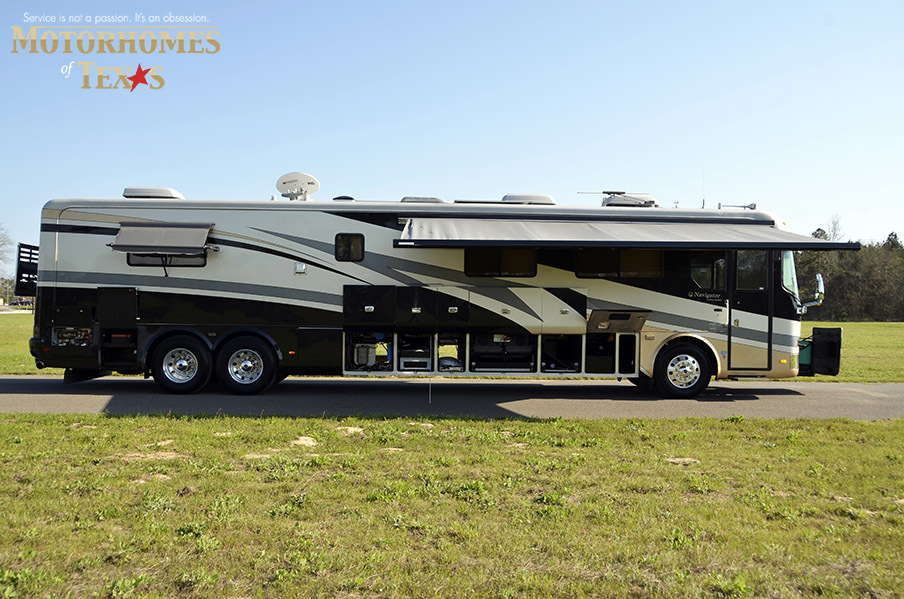 2002 holiday rambler navigator 45dcds priced at 96500 for Motor vehicle open on saturday