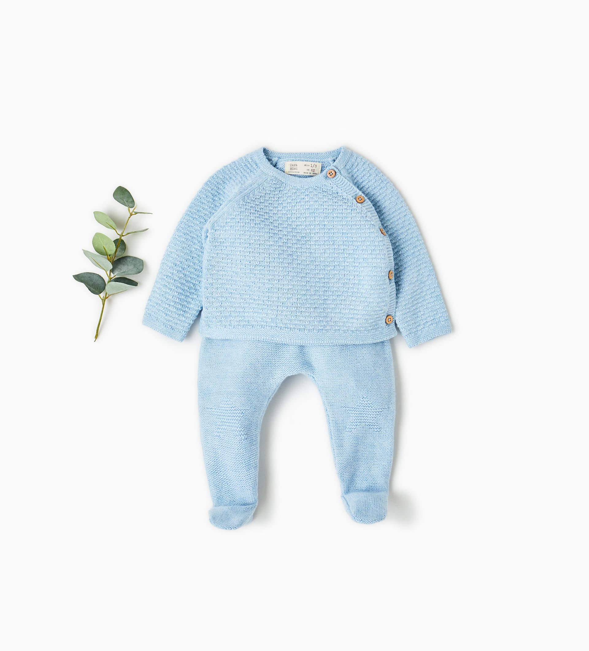 Baby Clothes from Zara SS18 Collection - Blue knit jumpsuit
