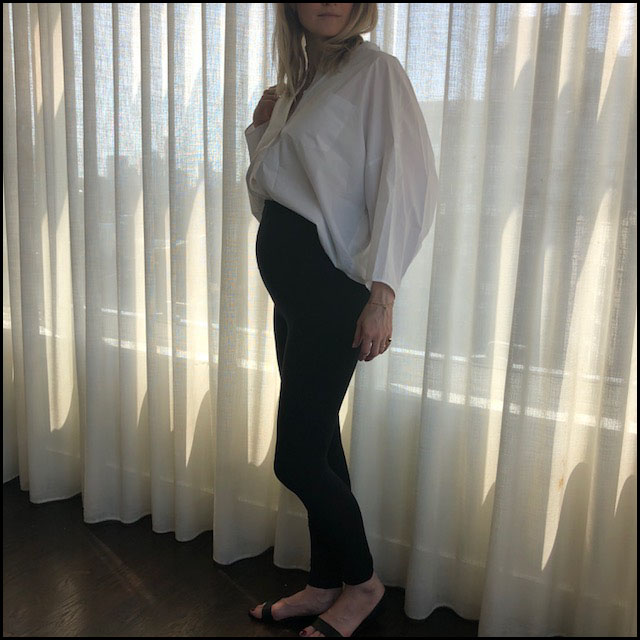 Pregnancy Style 3 - Weekday Shirt, Storq Leggings