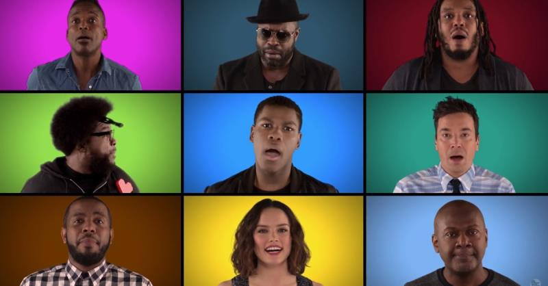 Watch 'The Force Awakens' cast sing the most iconic 'Star Wars' music a capella