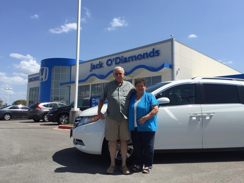 Congratulations to Ronnie and Peggy Florence on their new Honda Odyssey!