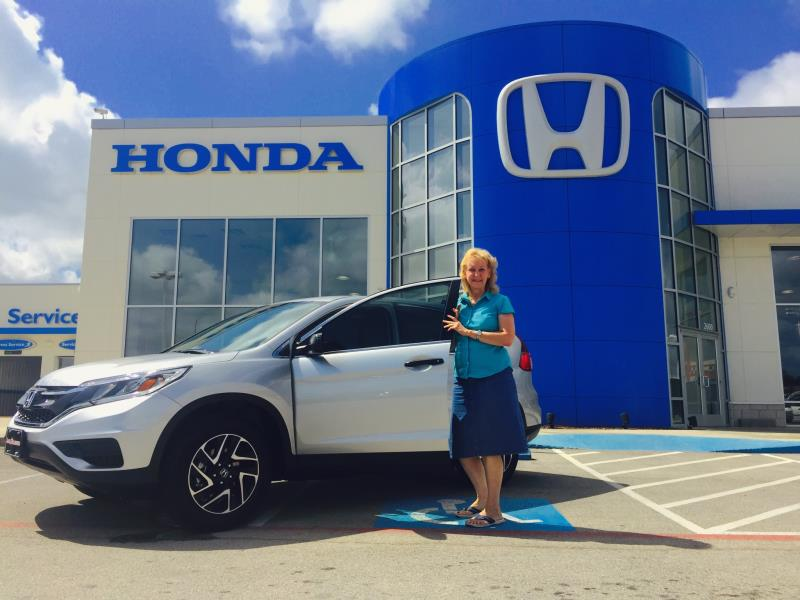We drove from Nacogdoches to get our Honda.