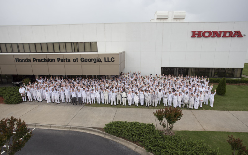 Honda Precision Parts of Georgia Celebrates 10 Years of Transmission Production in Tallapoosa