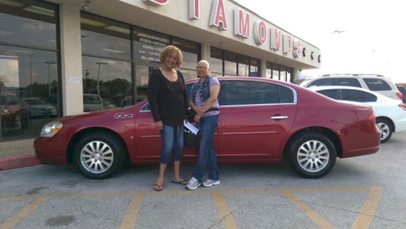 Linda gets her Buick.