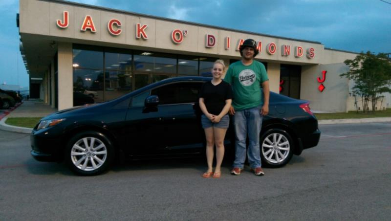 Another 2012 Honda Civic is happy