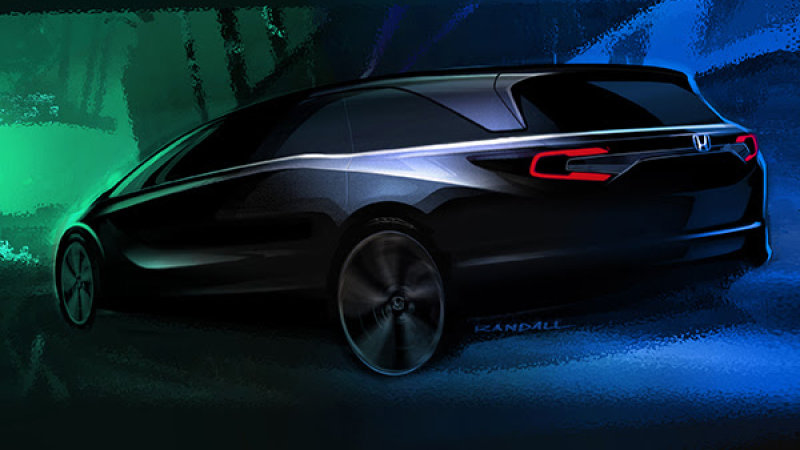 Honda teases 2018 Odyssey before Detroit auto show debut