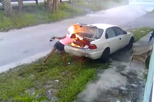 A 19-Year-Old Seeking Revenge On Her Ex, Set Fire To The Wrong Car