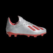 6fdf77a9e adidas X 19.1 FG J - Silver Metallic/Hi Res Red/Footwear White