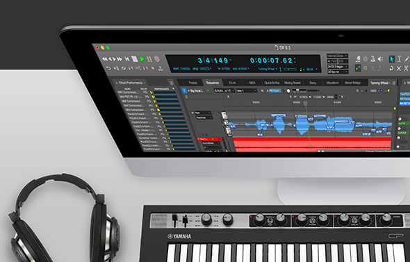 Digital Performer 9.5 desktop