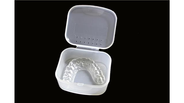 Image:  Anti-Microbial Mouthguard-Mouthpiece Storage Case
