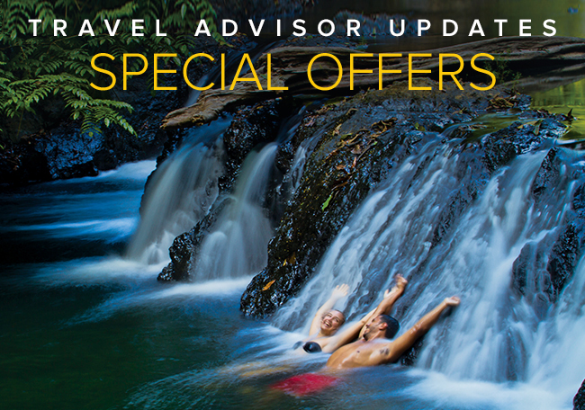 Travel                                            Advisor Updates Special                                            Offers