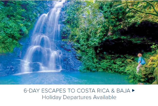 Wild Costa Rica Escape                                              Guanacaste and Wild Baja                                              Escape - Holiday Departures                                              Available
