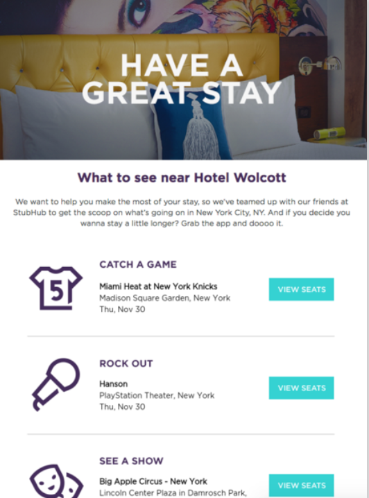 By Integrating StubHub, Weu0027re Making Those Recommendations More Timely And  Relevant. Before We Had StubHub Integrated, It Was A Static Matrix That The  ...