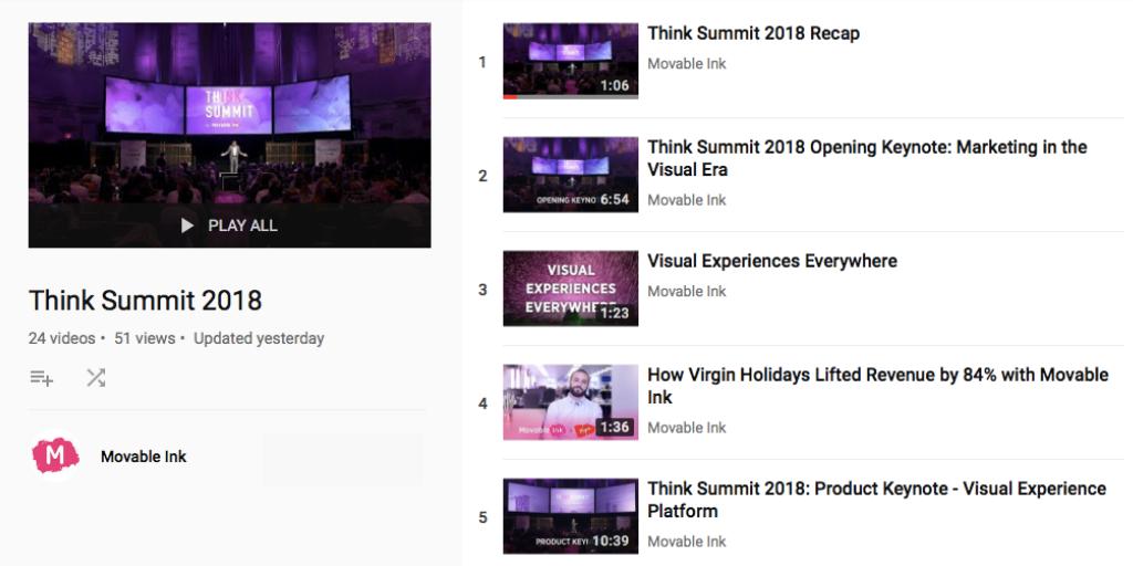 Think Summit 2018 playlist