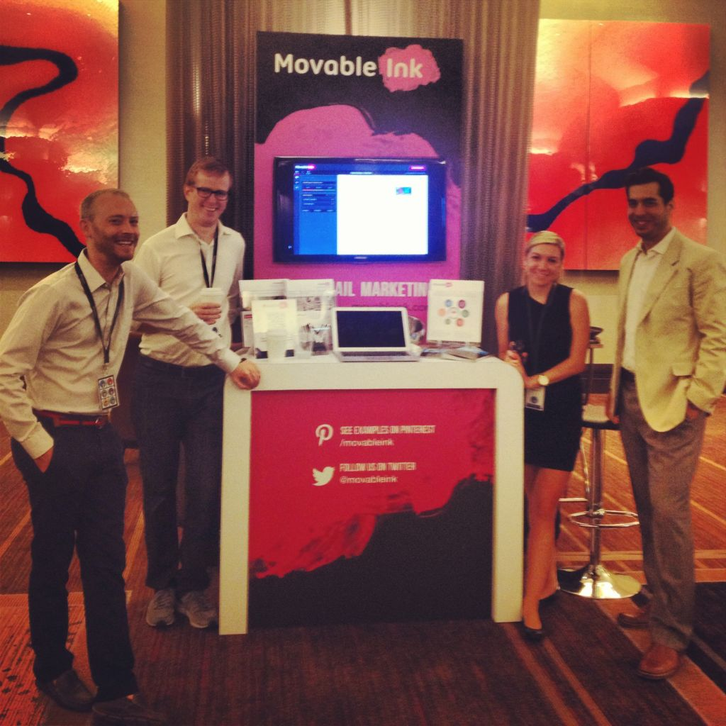 Ryan, Tim, Rachel, and Jason of the Movable Ink team at the Summit.