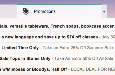 "Gmail's new ""Promotions"" tab"