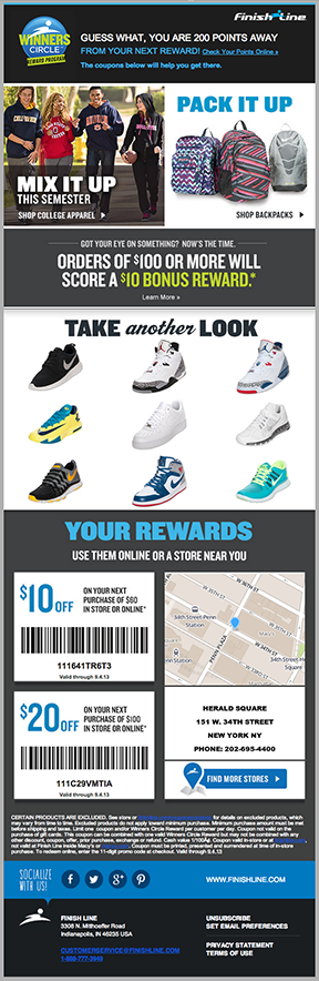 Finish Line - Local Maps and Discount Barcodes
