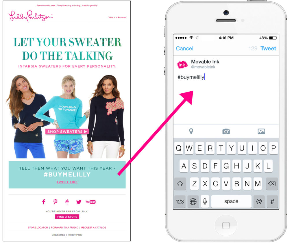 Lilly Pulitzer holiday email marketing