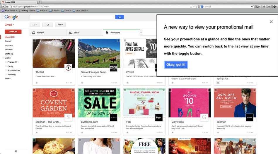 Gmail Visual Promotions Tab