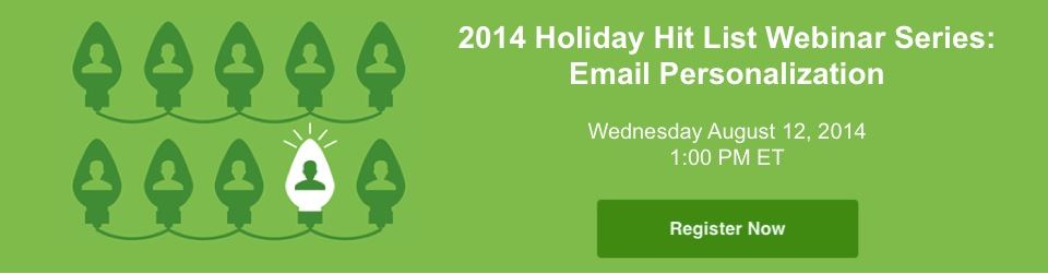 Holiday Hit List Webinar Promotion