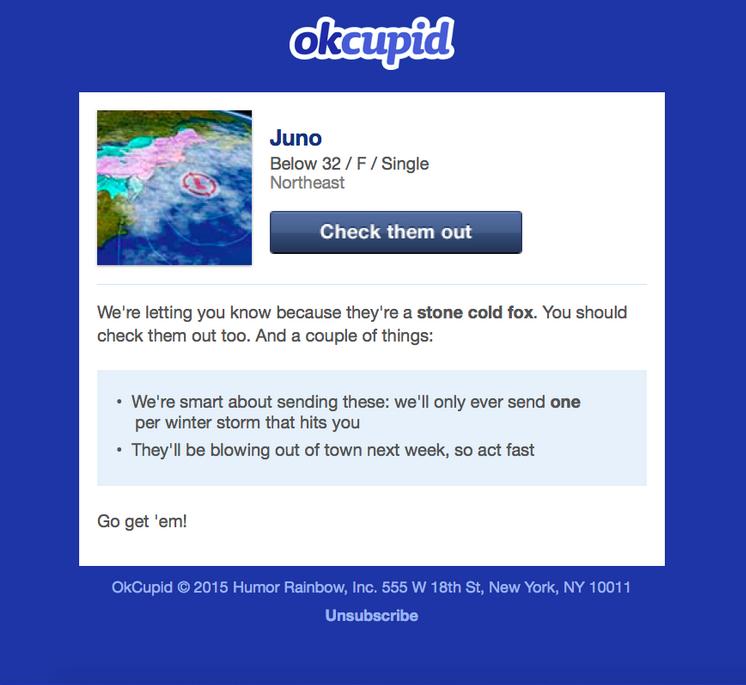 OK Cupid contextual marketing