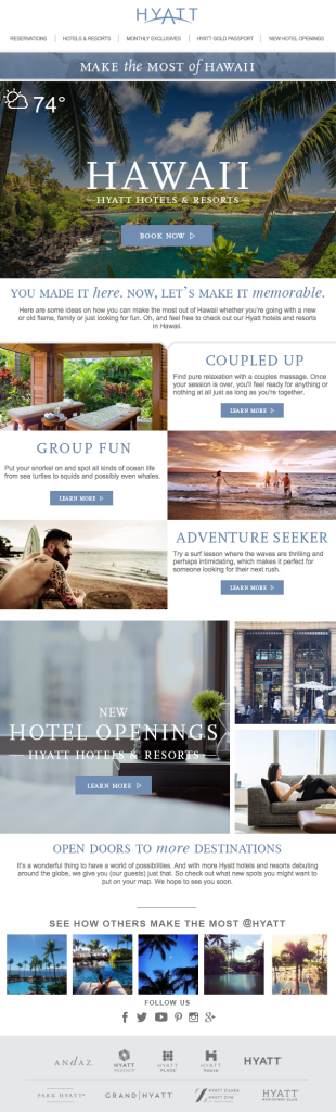Hyatt Social and Email Marketing Strategy
