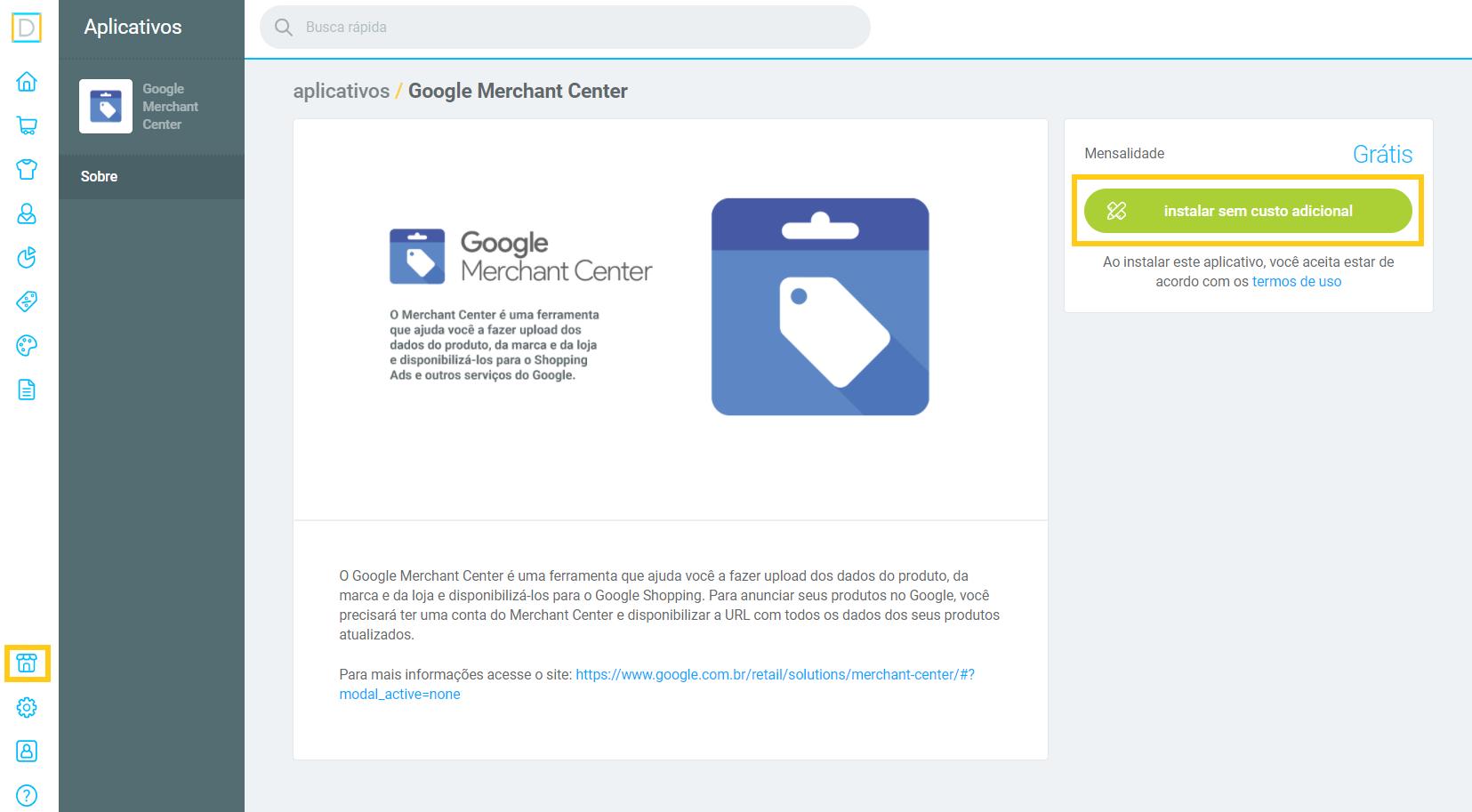 instalar sem custo - google merchant .png