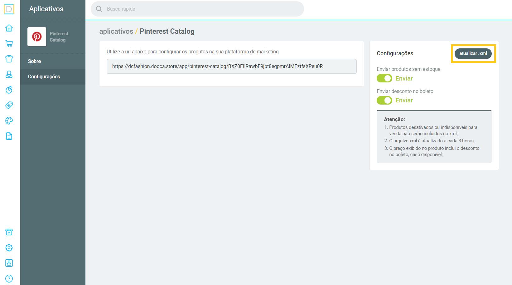 atualizar o xml .png