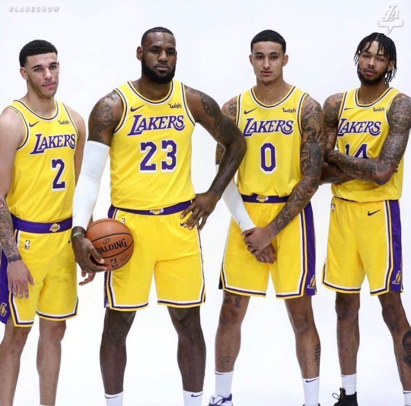 f73ca7d0359 Image via Lakers Instagram. Lonzo Ball and Kyle Kuzma are going to be NBA  sophomores while Brandon Ingram will be a junior. Which player will benefit  the ...