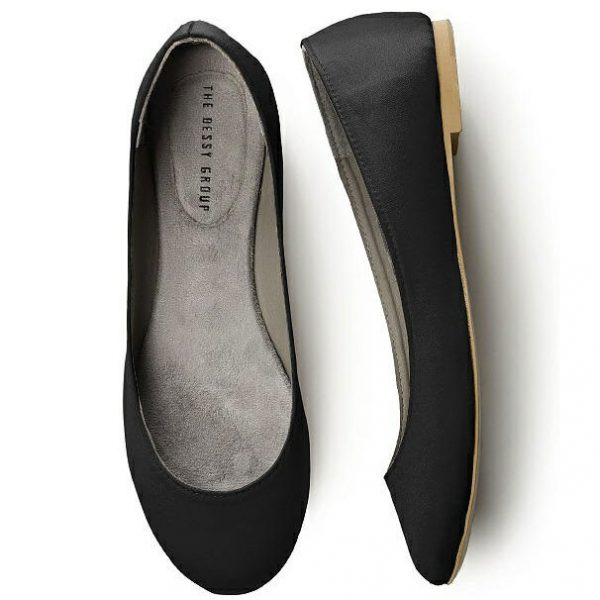 4d952be1bfbe Satin Ballet Flat-Black (13 Colors)