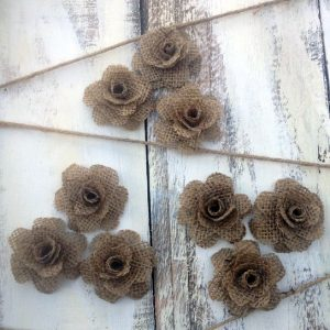 Handmade Burlap Roses