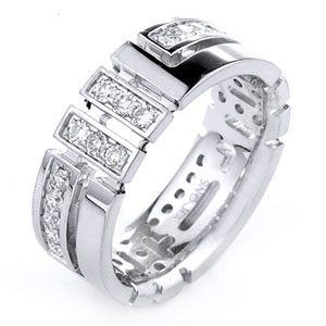 Men's 14K Gold Diamond Engagement or Wedding Ring
