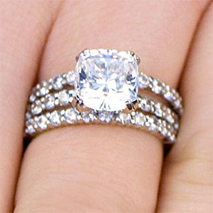 Stackable Wedding Ring Set, CZ