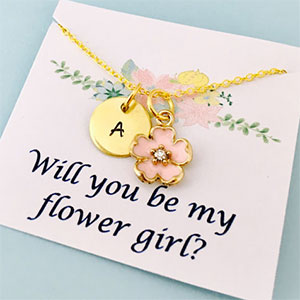 Will You Be My Flower Girl Personalized Necklace