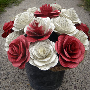Alice in Wonderland Paper Roses