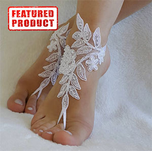 Flower Lace Beach Barefoot Sandals