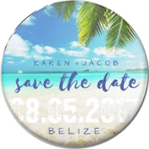 Destination Save The Date Magnet