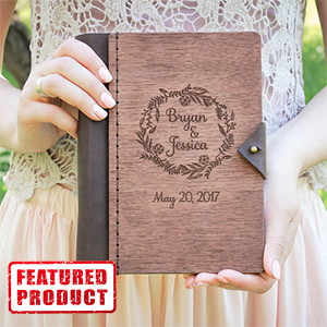 Custom Wood Wedding Guestbook or Planning Journal