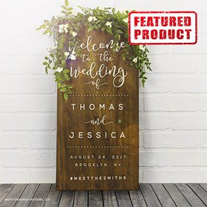 Wedding signs page 1 of 5 wedding products from personalized rustic wooden wedding welcome sign choice of 5 stains three letter colors junglespirit