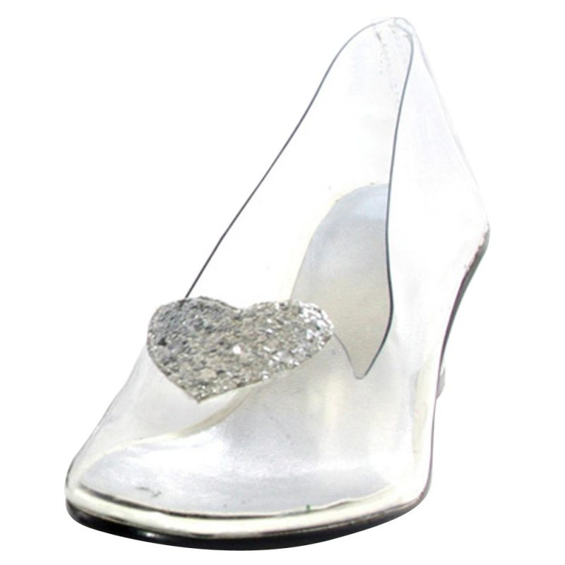 Women's Disney Princess Cinderella Clear Costume Shoes - 7, Size: 7.0