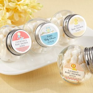 Mini Glass Personalized Favor Jar (Set of 12)