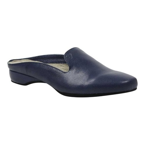 Women's J. Renee Chesire Low Heel Mule, Size: 9.5 M, Navy Capri Kid Leather