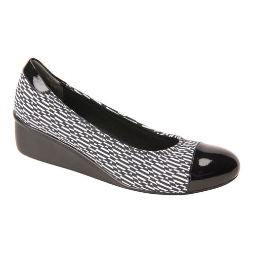 Women's Ros Hommerson Elizabeth, Size: 7.5 N, Black/White Pattern Stretch