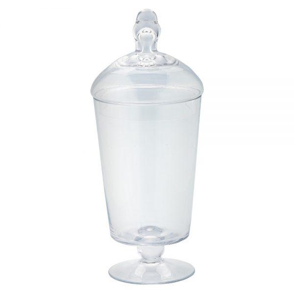 "Diamond Star Glass Apothecary Jar with Lid Clear (12""x5"")"