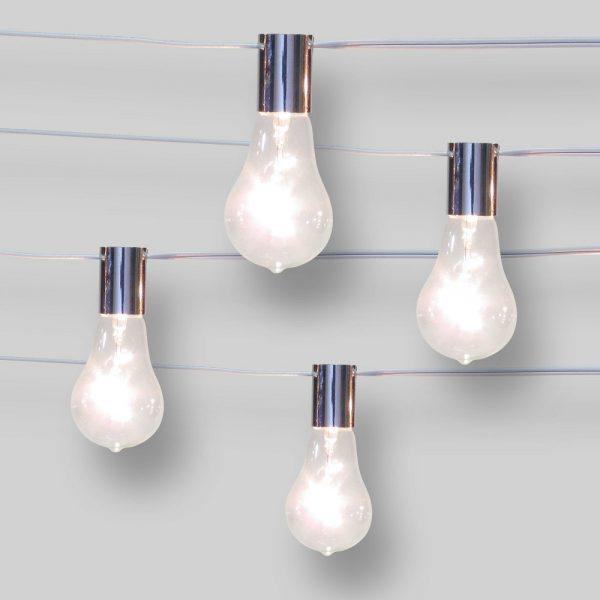 10ct String Lights Spiral Filament G50 - Clear Bulbs - Smith & Hawken